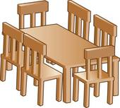 Dining Room Table Clip Art.