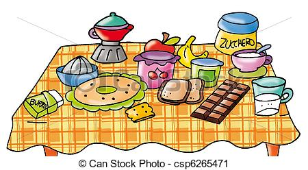 Breakfast table clipart.