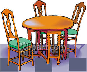 Breakfast Table Clip Art.