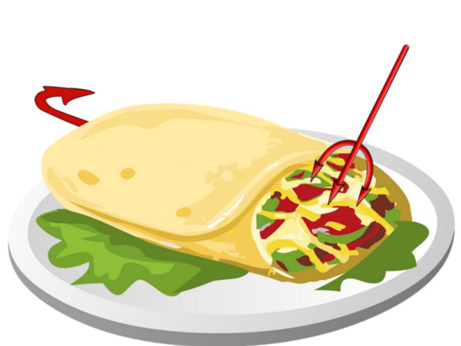 Taco Cartoon clipart.