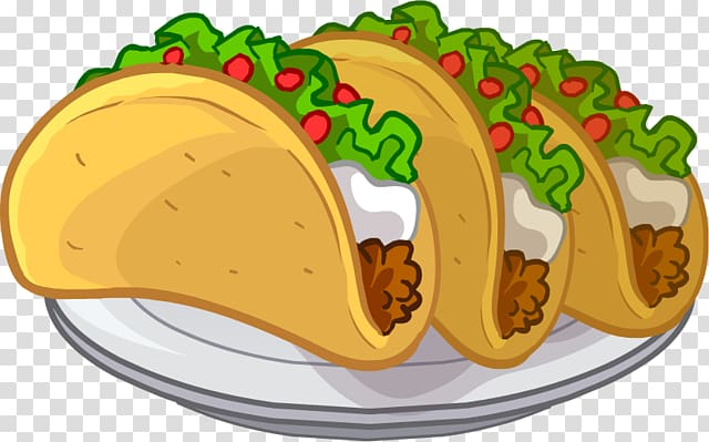 Three tacos on plate , Taco Mexican cuisine Breakfast , Tacos Puffle.