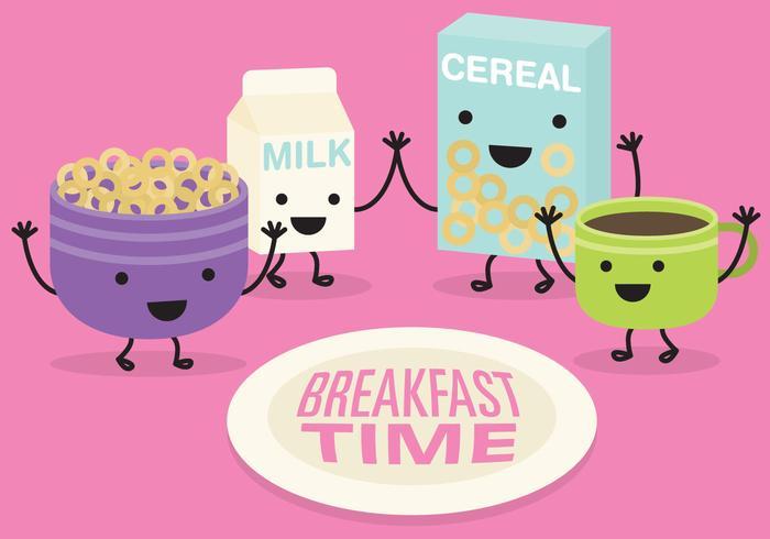 Breakfast Time Vector.