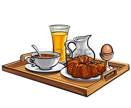 Breakfast tray clipart.
