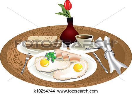 Clipart of breakfast tray k10254744.
