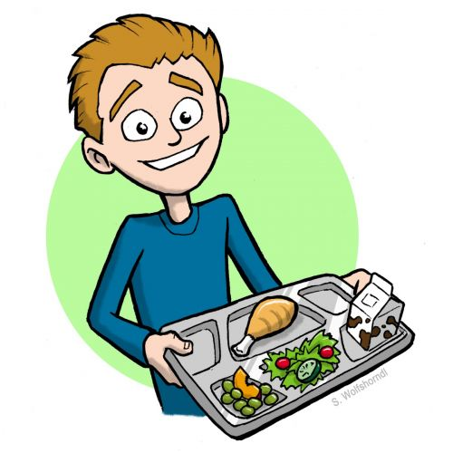Breakfast tray clipart.