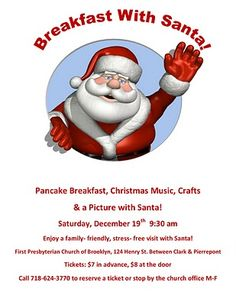 Pancake Breakfast with Santa Flyer.