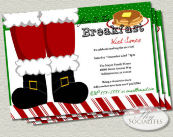Christmas Pancake Breakfast Clipart.