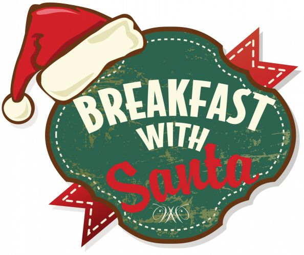 Printable Breakfast with Santa clip art.
