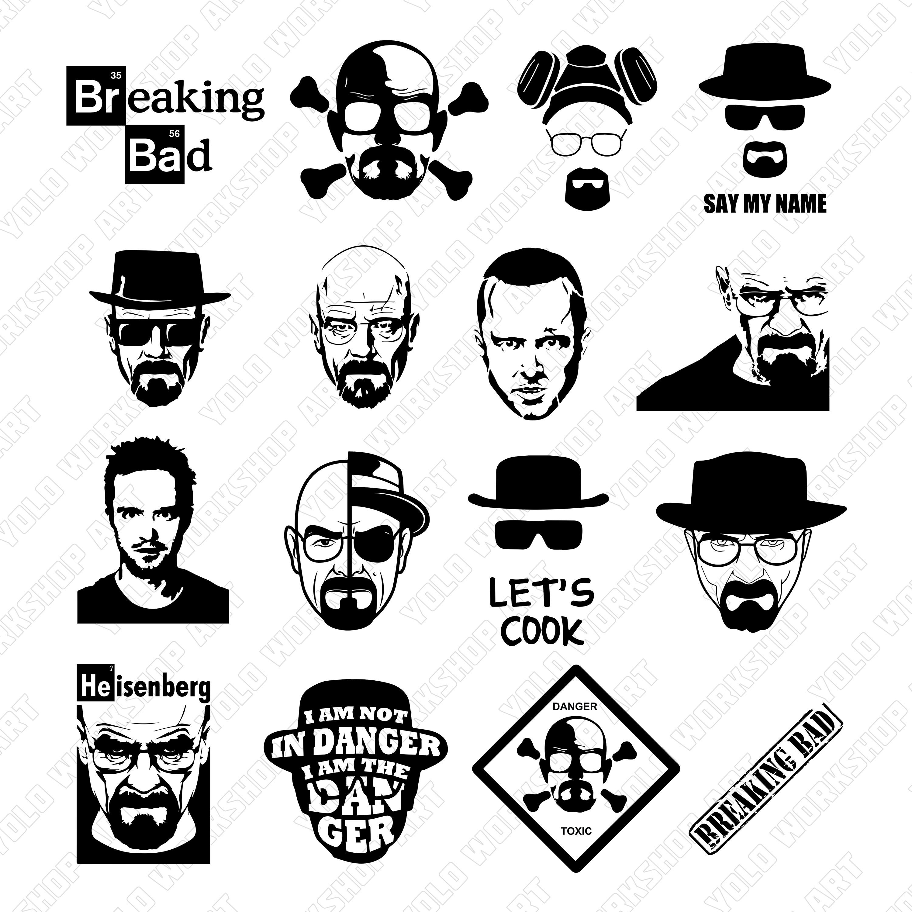 Breaking Bad Svg, Eps, Jpg , Png, Clipart, Printable, Silhouette file and  Cricut File..