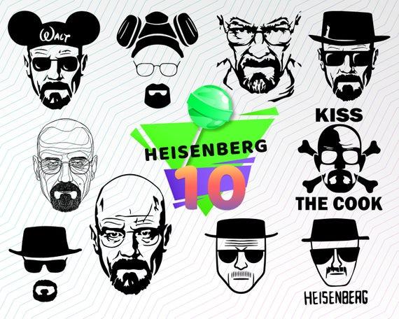HEISENBERG SVG, breaking bad svg, walter white svg, heisenberg dxf.