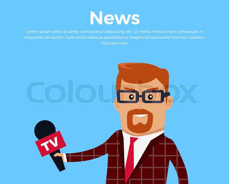 Breaking news concept banner. Media.