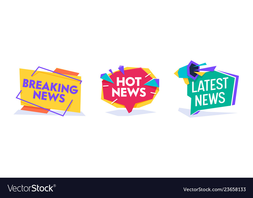 Hot news world breaking reportage banner template.