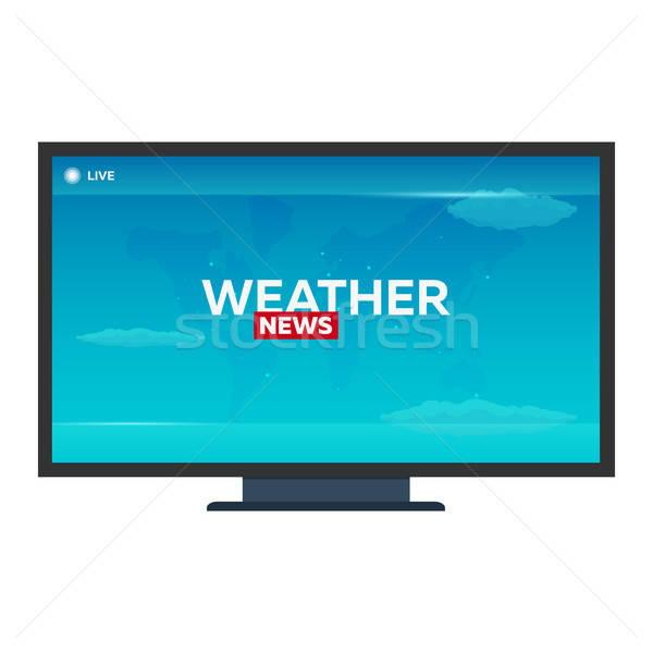 Mass media. Weather news. Breaking news banner. Live.