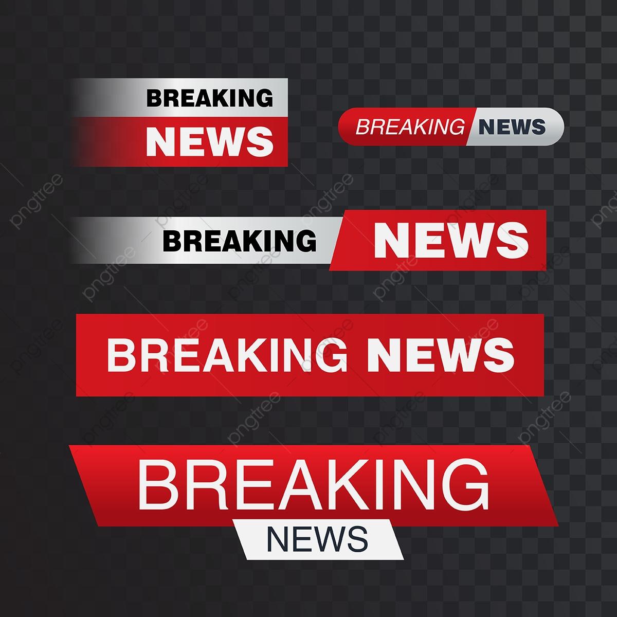 Vector Bars Breaking News Banner News Banner For Streami, Modern.