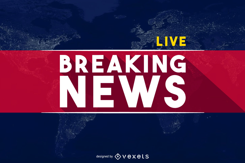 World Breaking News banner header.