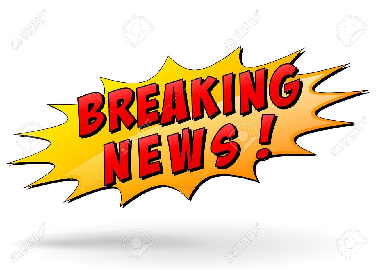 Vector illustration of breaking news star icon.