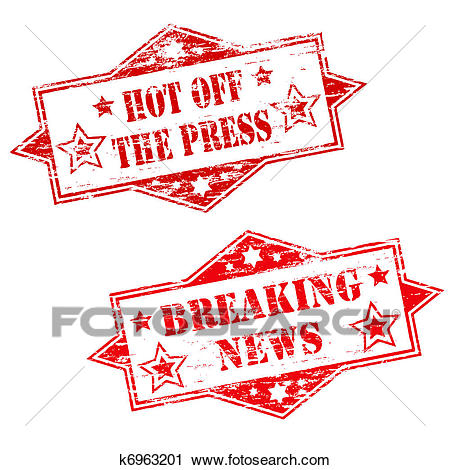 HOT OFF THE PRESS and BREAKING NEWS Clipart.