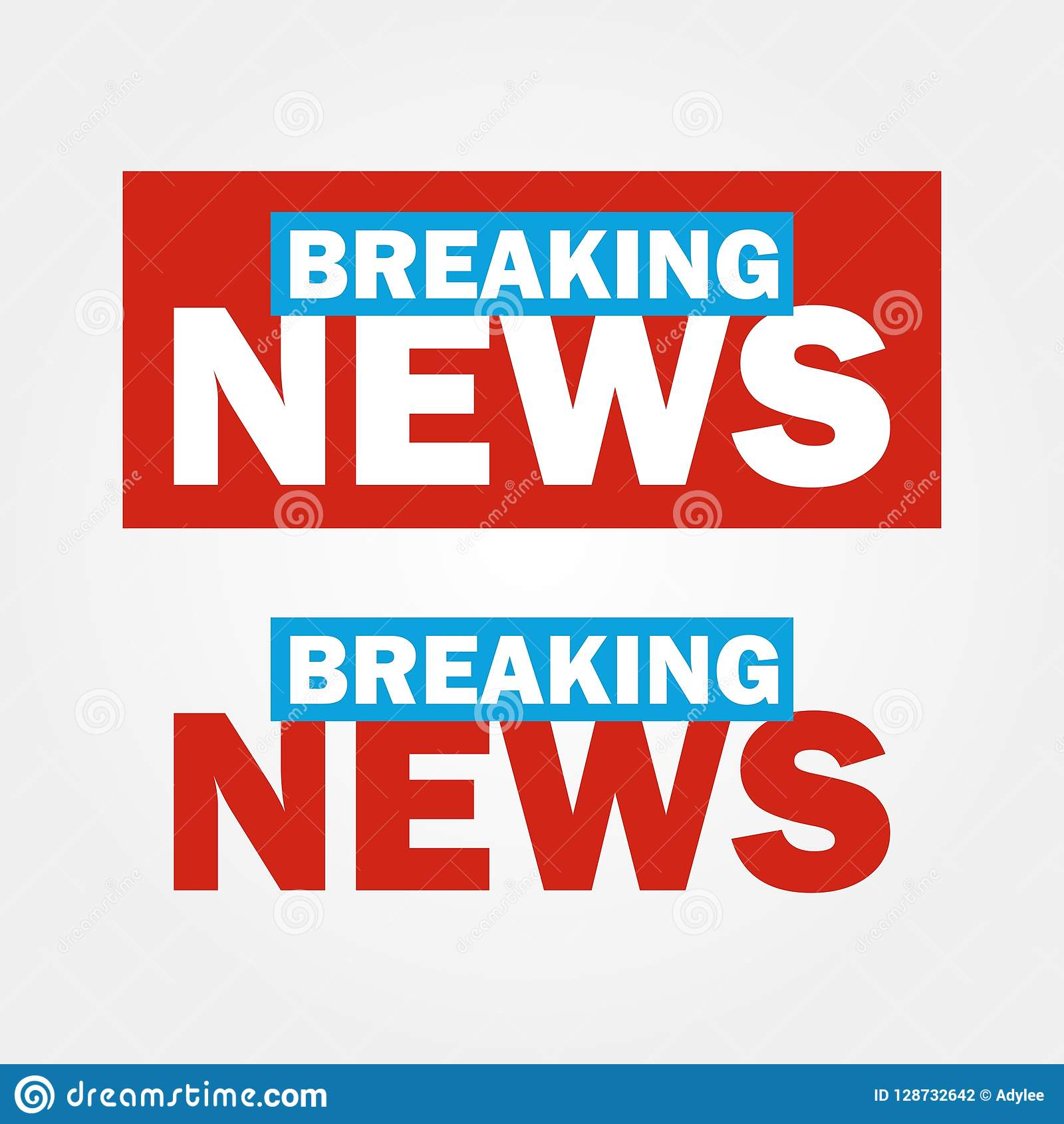 Breaking News Logo Vector 5 Stock Photo.