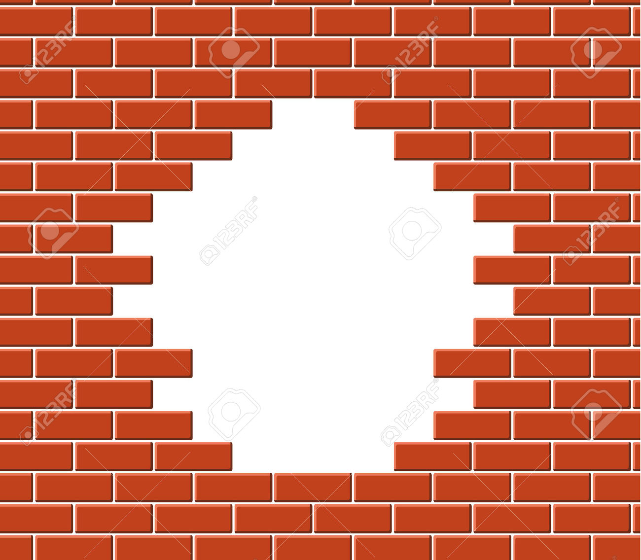 Broken Brick Clipart.