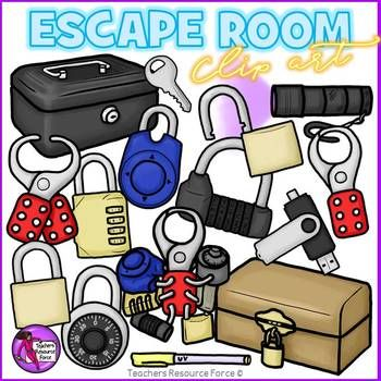 Escape room / Break out clip art.