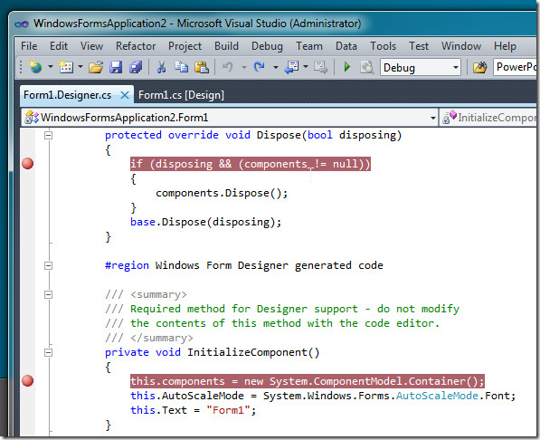 BreakAll Sets Breakpoint In Every Access To Class [Visual Studio 2010].