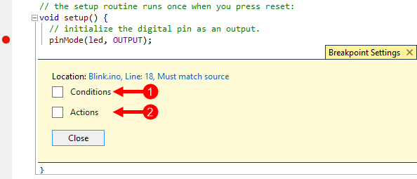 Working with Breakpoints.