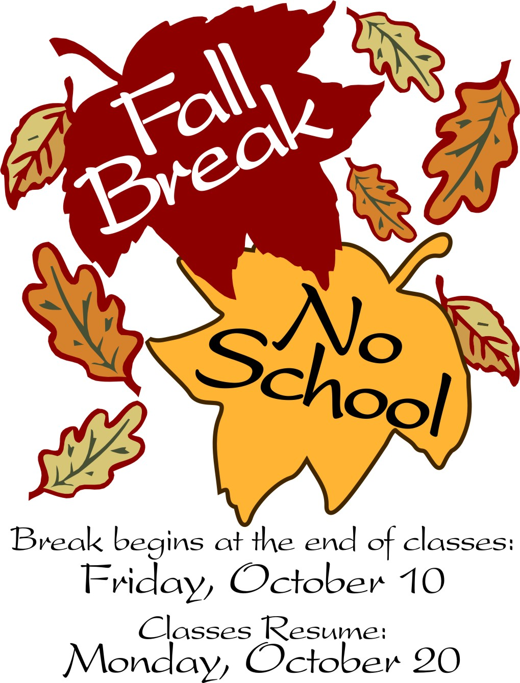 Fall Break Clipart.