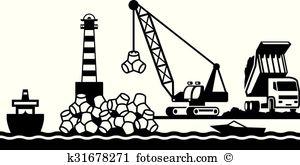 Breakwater Clip Art EPS Images. 11 breakwater clipart vector.