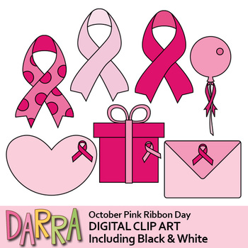 Breast Cancer Awareness, Pink Ribbon Day Clip Art.