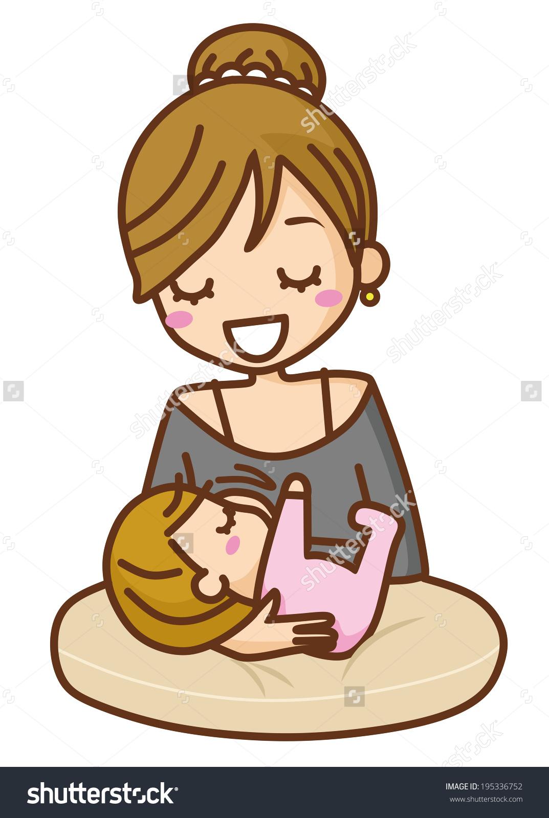 Baby Breast Milk Stock Vector 195336752.