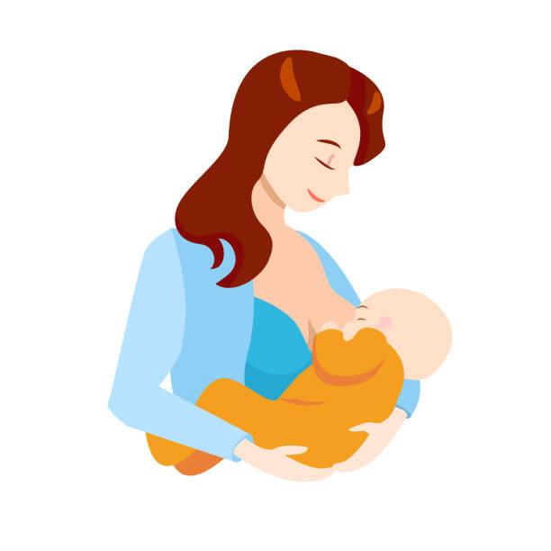 Best Breastfeeding Illustrations, Royalty.