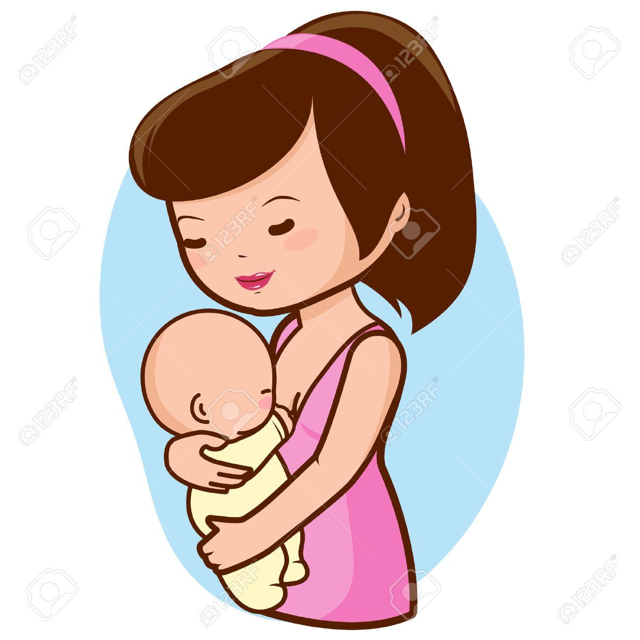 Mother breastfeeding baby.