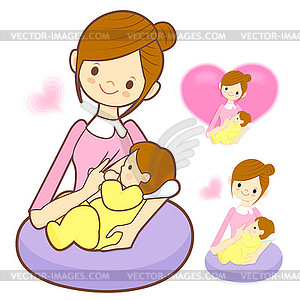 Breastfeeding Clipart Page 1.