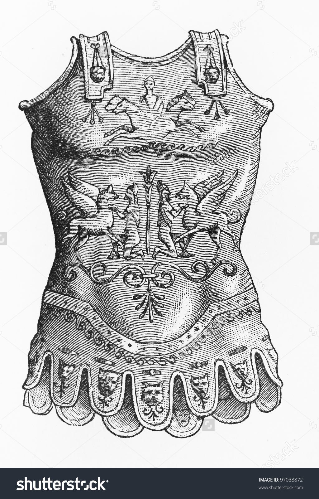 Roman Breast Plate Armor Picture Meyers Stock Photo 97038872.