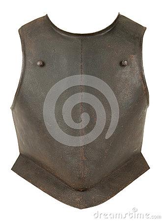 Iron Breastplate Stock Photo.
