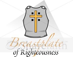 Breastplate of righteousness clipart.