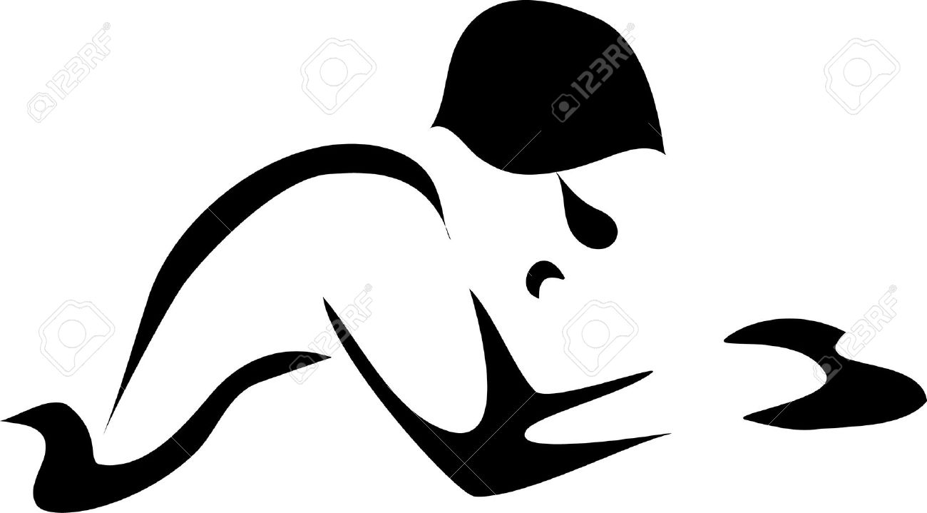 Breaststroke Swimmer Clipart.