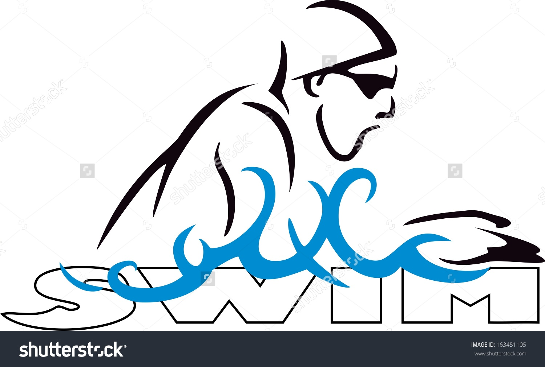 Swimming breaststroke clipart.