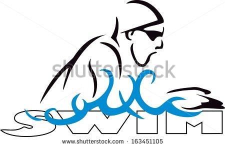 Breaststroke swimming clipart.