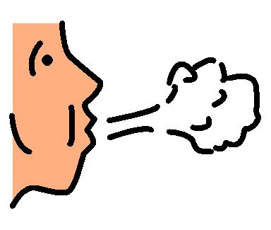 Best of Breathing Clipart clip art of person taking a deep breath.