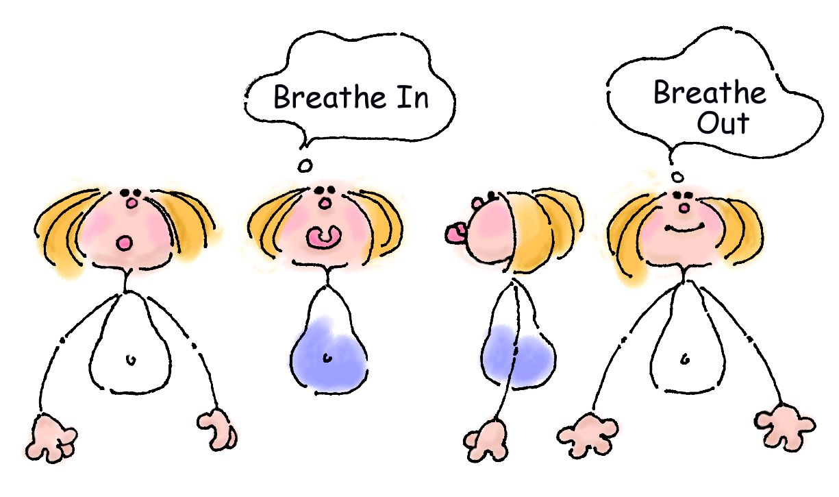 Breathe in clipart.