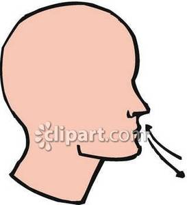 Breathe clipart nose breathing, Breathe nose breathing.