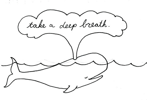 Deep breathing clipart.