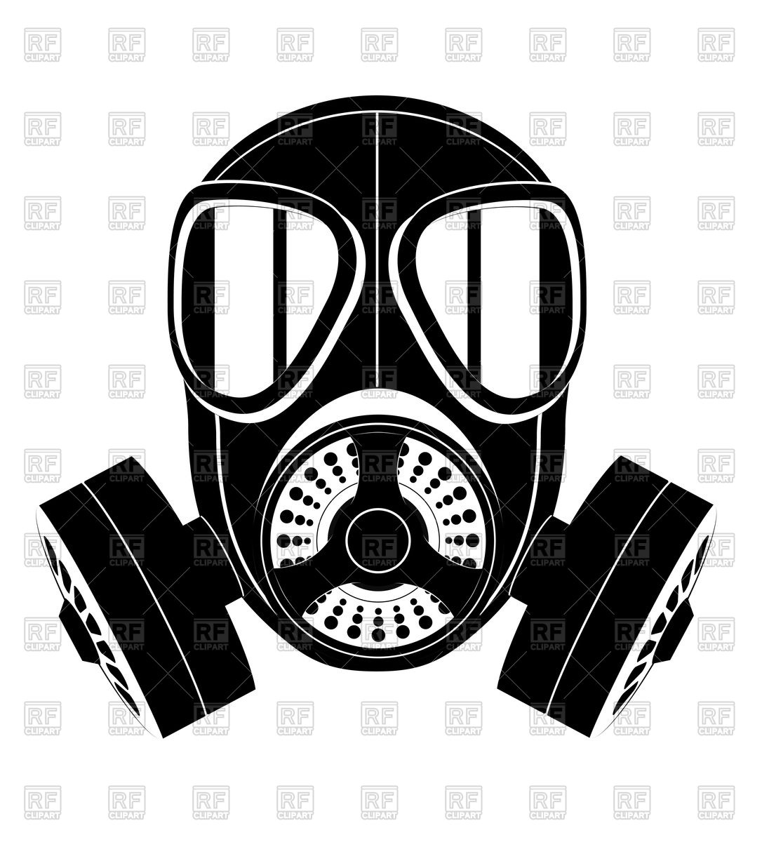 Silhouette of gas mask icon Vector Image #79664.