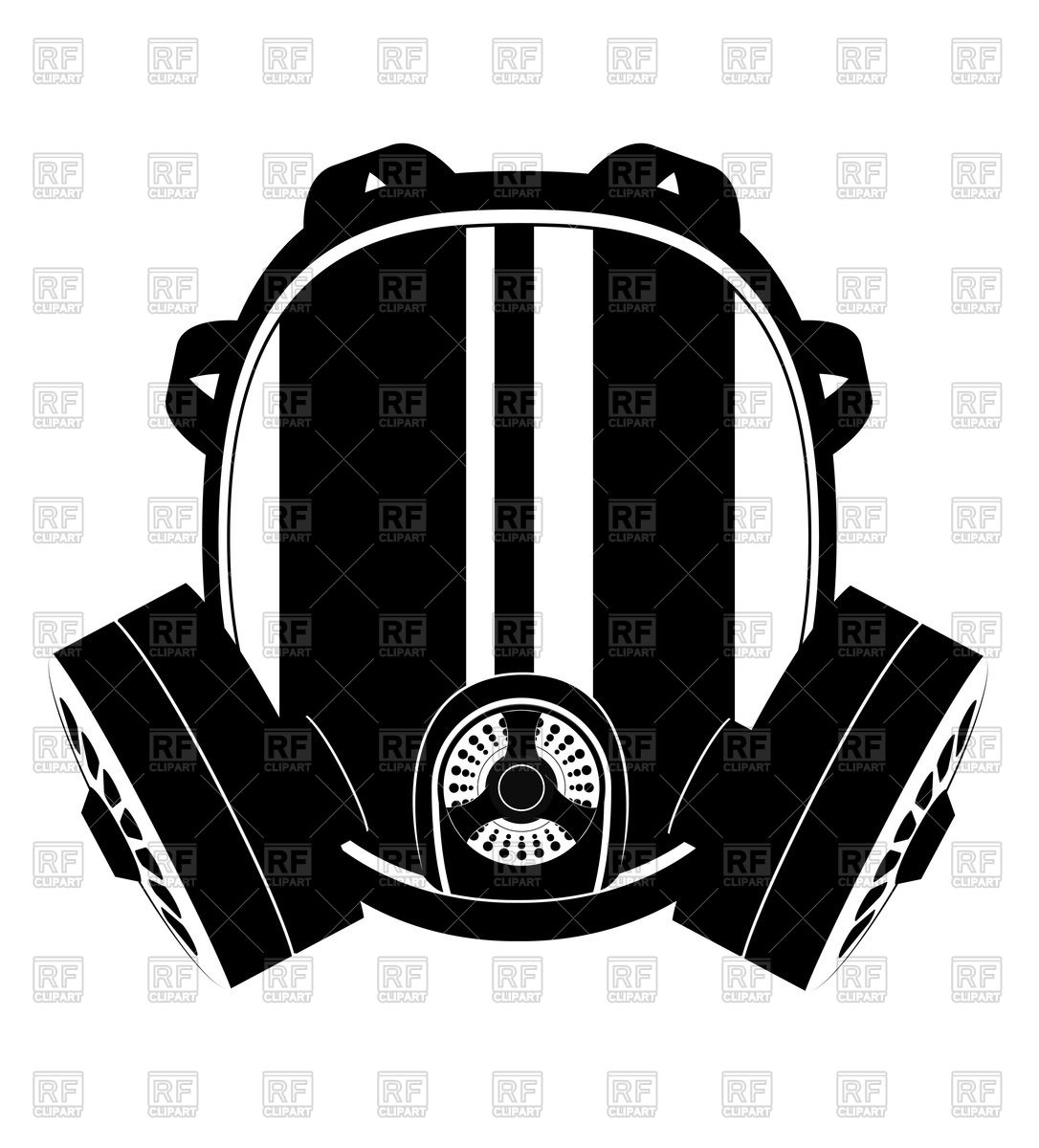 Gas mask icon Vector Image #79662.