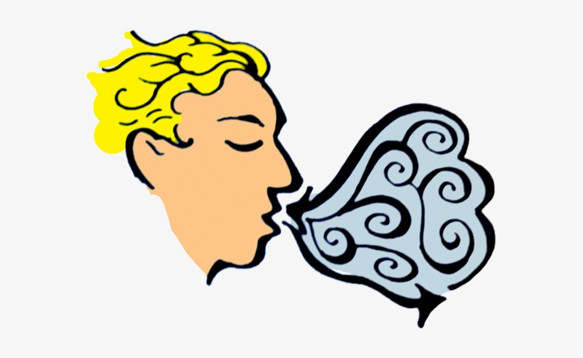 Svg Library Stock Diaphragmatic Breathing Exhalation.