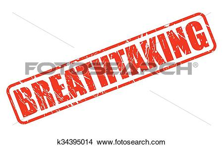 Clipart of BREATHTAKING red stamp text k34395014.