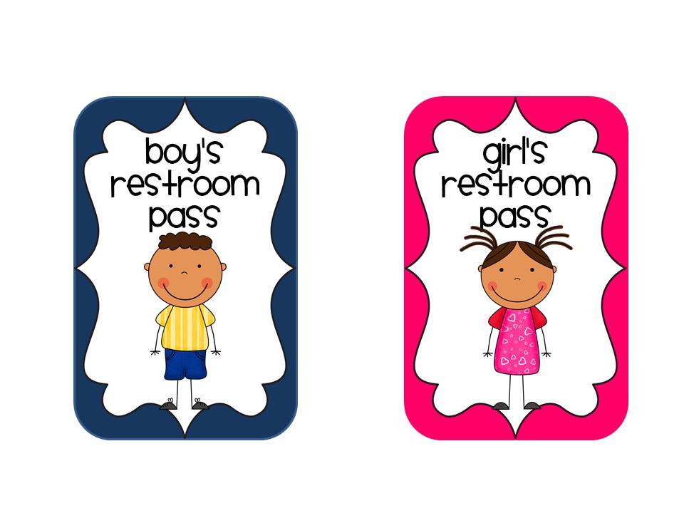 Elementary School Bathrooms Clipart.