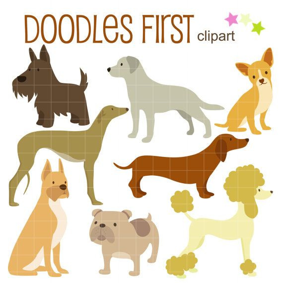 Free dog breed clipart.