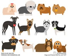 Dog breed clipart.